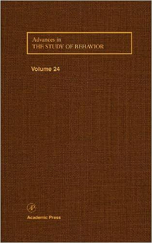 Advances in the Study of Behavior: Vol 24