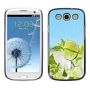 Caucho caso de Shell duro de la cubierta de accesorios de protección BY RAYDREAMMM - Samsung Galaxy S3 - Cóctel de cal