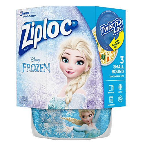 Ziploc Brand Twist n' Loc Containers Featuring Disney Frozen Design, Small, 16 oz, 3 ct