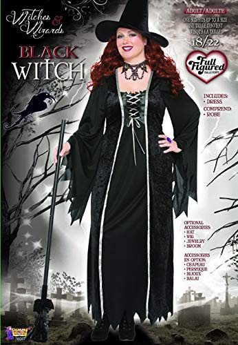 Forum Novelties Women's Black Witch Plus Size (18-22) Costume