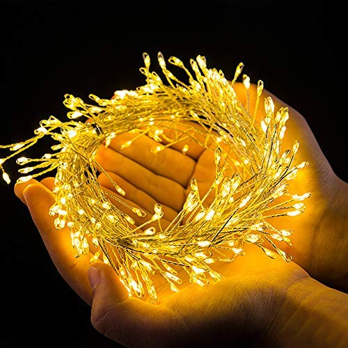 B-right Cluster Fairy Lights Battery Powered,10ft 200 LEDs String Lights with Remote Control, Soft White LED String Lights for Christmas Bedroom Garden Patio [並行輸入品] B07R7L25CG
