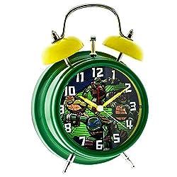 Light-Up Twin Bell Teenage Mutant Ninja Turtles Alarm Clock Green/Yellow