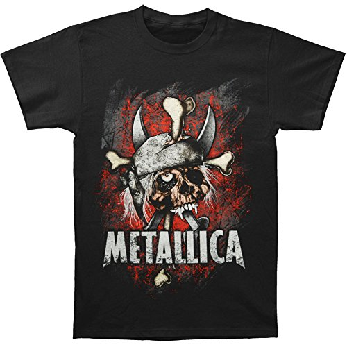 Metallica Argh Matie Pushead Pirate Skull T-shirt - Black (Large)