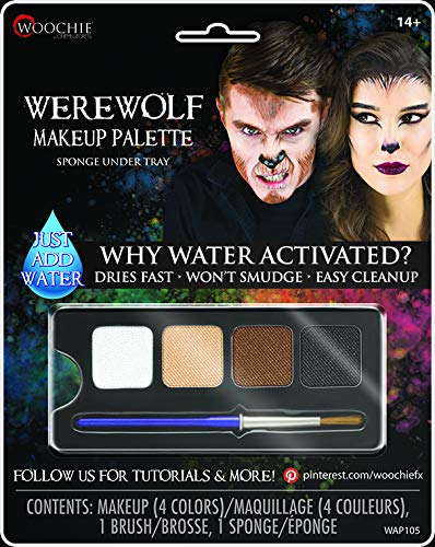 Devil Halloween Costumes Makeup (Woochie Water Activated 4-Color Make Up Palette - Professional Quality Halloween Costume Cosmetics -)