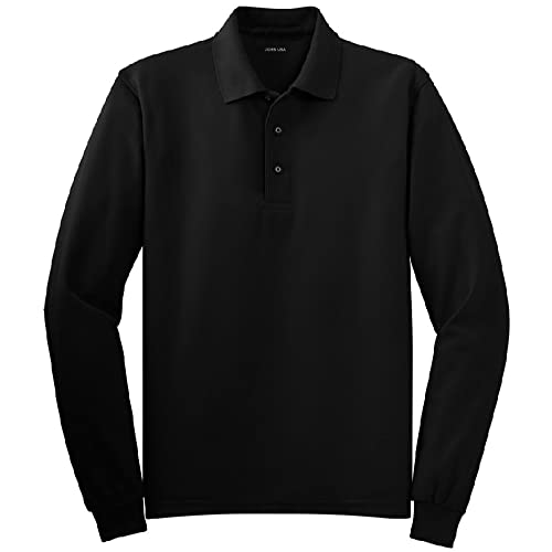 Joes USA Mens Long Sleeve Polo Shirts in 9 Colors. Regular and Tall Sizes: