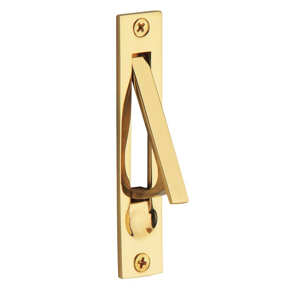 Baldwin 0465.003 Edge Pull, Lifetime Polished Brass