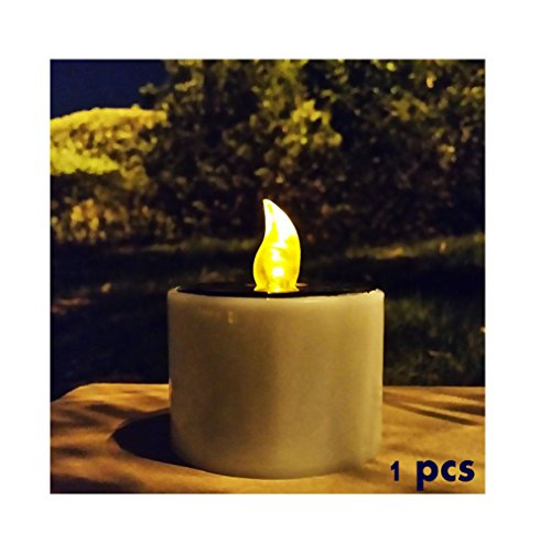 Livingly Light Romantic Smoke-free Light Emitting LED Flameless Solar Tealights Wedding Floral Decoration Tea Vase Battery Light