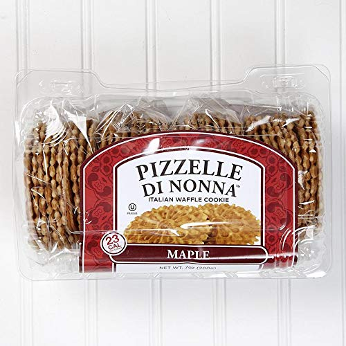 Di Nonna Maple Pizzelle (Italian Waffle Cookie) - 7 oz (Pack of 4) by Di Nonna