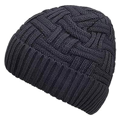 Spikerking Mens Winter Knitting Wool Warm Hat Daily Slouchy Beanie Skull Cap