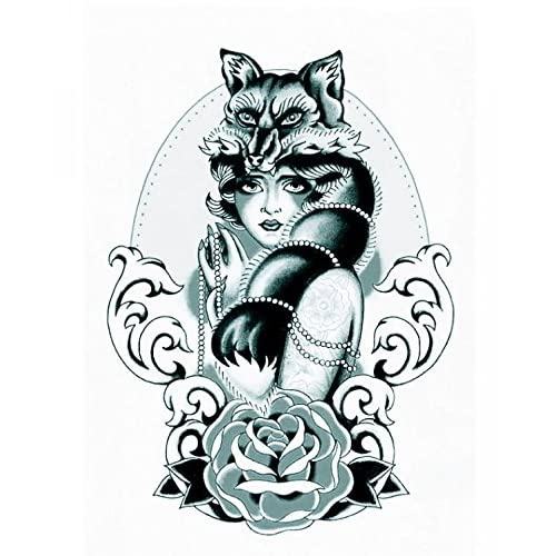 70off Grashine Halloween Tattoo For Men And Women Beautiful Wolf