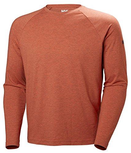 Helly Hansen Men's Fjord LS Ragland T-Shirt, Paprika, L