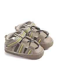 800e076086806 Nagodu Zapato para Bebe Tipo Huarache o Sandalia Moderna Cafe con Amarillo