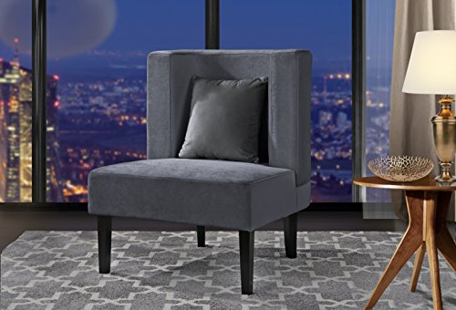 Accent Chair for Living Room, Upholstered Armless Velvet Cha