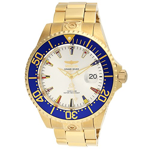- Invicta Men's Pro Diver Automatic-self-Wind Watch with Gold-Tone-Stainless-Steel Strap, 22 (Model: 21325)