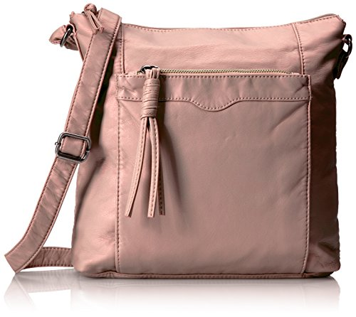 Bueno of California Soft Pearlized Faux Leather Shoulder, Pale Pink