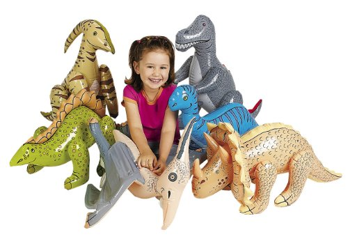 Fun Express Large Inflate Dinosaurs (6 Pieces)