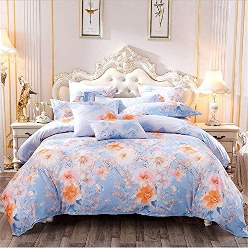 SSHHJ Brief Style Light Printing Comfortable Bedding Set Bed Linings Duvet Cover Pillowcases C 220x240cm