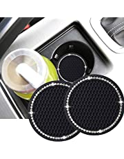 Dalimo 2PCS 2.75 Inch Bling Car Cup Holder Insert Mat Pad Set Drink Coaster Car Interior Accessoriess