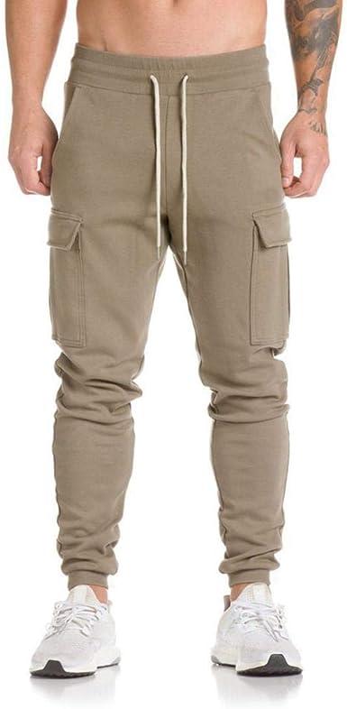 OHQ Pantalones Vaqueros Hombres AlgodóN Bolsillos Personalizados ...