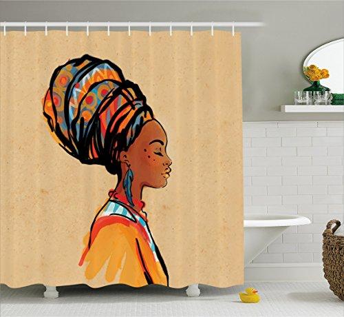 Curtain Ambesonne Feather Bathroom Merigold