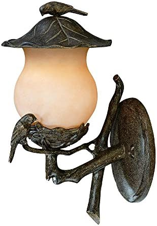Acclaim 7551BC CH Avian Collection 2-Light Wall Mount Outdoor Light Fixture, Black Coral