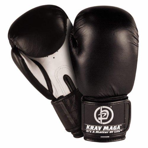 (Krav Maga Leather Boxing Glove (Black, 14-Ounce))