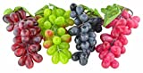 grapes decoration - SAMYO 4 Bunches of Artificial Black,Red, Green and Purple Grapes Fake Fruit Home House Kitchen Party Wedding Decoration Photography - 4 Colors