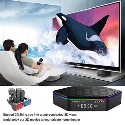 YAGALA T95Z Plus Android 7.1 TV Box Amlogic S912 Octa Core 3GB/32GB Dual Band WiFi 2.4GHz/5.0GHz 4K HD TV Box with Backlit Mini Wireless Keyboard by YAGALA (Image #3)