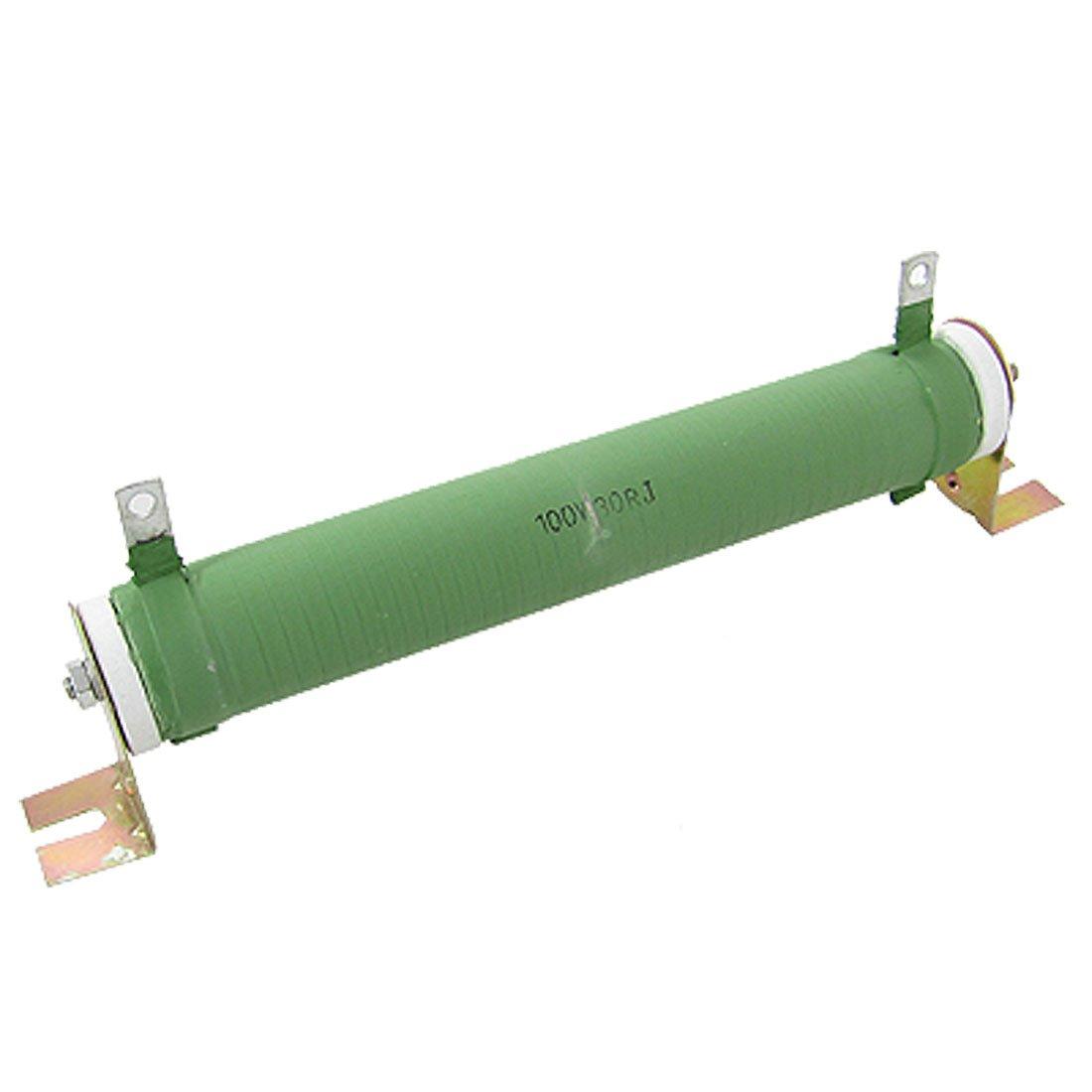 sourcingmap® 30 Ohm 100W Watts Wire Wound Resistor Ceramic Rheostat a11071300ux0063