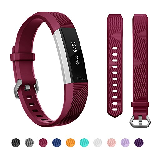 Kutop For Fitbit Alta HR Bands, Silicone Adjustable Replacement Sports Accessories Band for Fitbit Alta Strap, Small Large ()