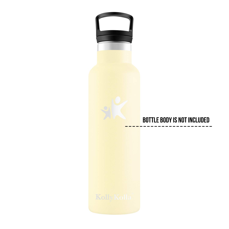 KollyKolla Tapa de la Botella de Agua Pl/ástico Libre de BPA Boca Est/ándar de 47 mm Negro Tapas de Botellas