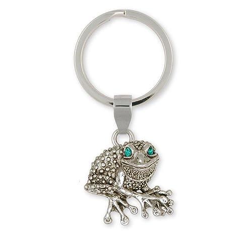 Amazon.com: Rana joyas plata de ley rana llavero hecho a ...