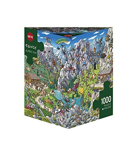 Heye Triangular Alpine Fun Tank Puzzles (1000-Piece) by Heye