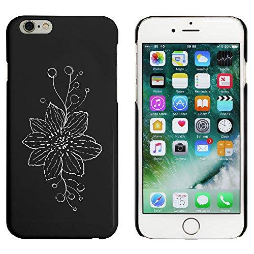 Noir 'Fleur aux Vrilles' étui / housse pour iPhone 6 & 6s (MC00008941)