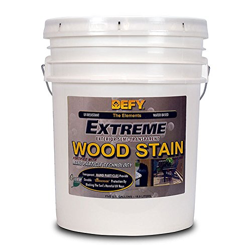 DEFY Extreme 5 Gallon Semi-Transparent Exterior Wood Stain, Cedar Tone by DEFY