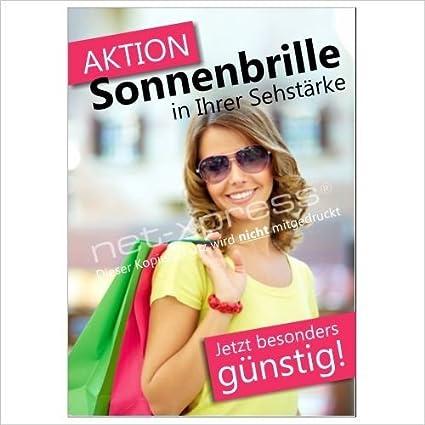 Werbeschild para Gafas de Sol Din A1, Cartel de Publicidad ...