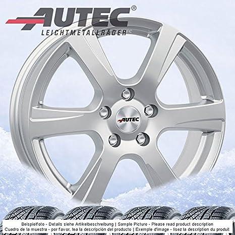 4 Invierno ruedas autec polaric 6.5jx16 ET20 4 x 108 plata con 205/55 R16 94 V XL Michelin Cross Climate para Citroen C4: Amazon.es: Coche y moto