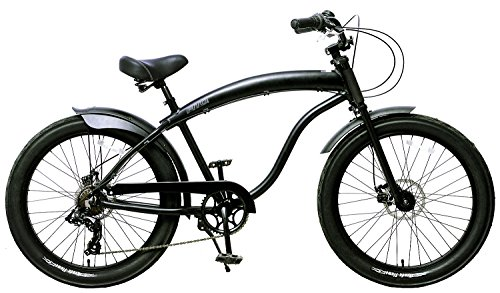 Cheap Fito Men's Modena GT 2.0 Aluminum Alloy 7 Speed Beach Cruiser Bike, Black, 18″/One Size