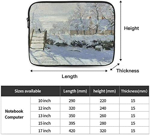 The Magpie Zipper Laptop Sleeve Bag The Magpie Carring Case Cover Protector Handbag 10 Inch for Notebook