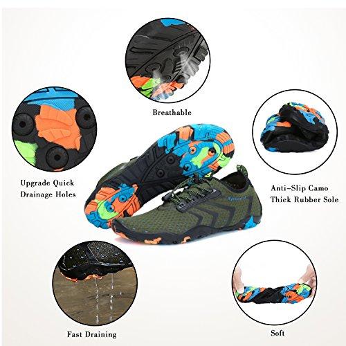 Piscina Unisex Walk Womens para Hombre Shoes Barefoot Green Aqua Water Beach YwSqY4T