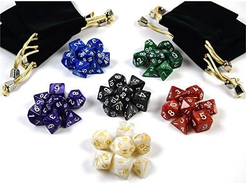 shibby 42 dados poliédricos en Multicolor para juegos de rol y ...