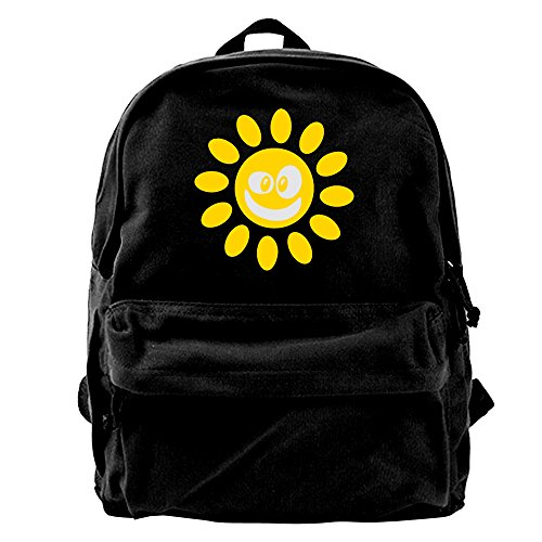 AA1-33 Smiling Sun Canvas Backpack For School Travel - Custom Sunglases