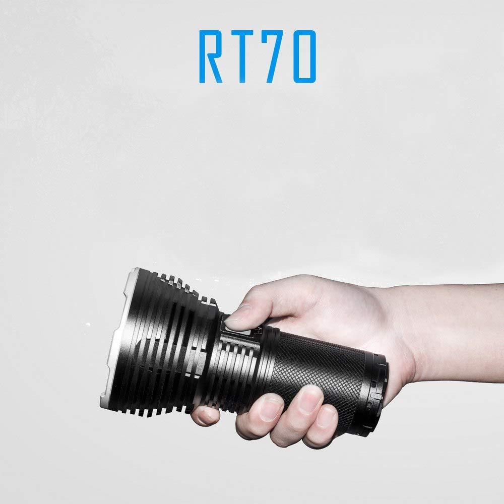 Ruichi7 Outdoor Lumen Flashlight,Ms12W Led Flashlight With 12 Cree Xhp70 Leds, Imalent Rt70 Flashlight,Lifespan Of 50,000 Hours,Brightness Output Of 55000 Lumens For Outdoor