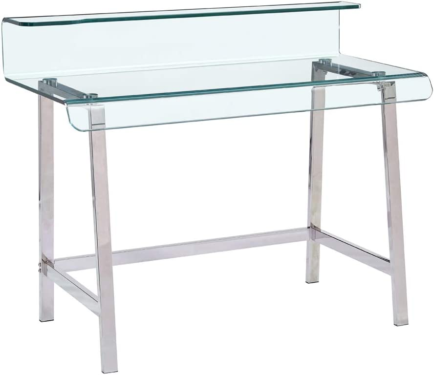 SMARTIK Glass Computer Gaming desk for Small Spaces