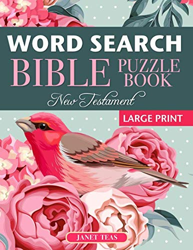 New Testament Bible Word Search Book: 70 Large Print Puzzles ()