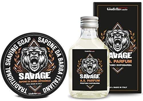 Goodfellas Smile Savage Afeitado Jabón y Aftershave Pack Doble: Amazon.es: Salud y cuidado personal