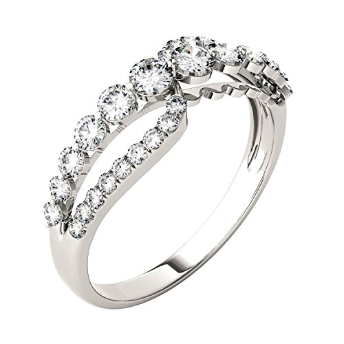 Forever Brilliant Round 3.0mm Moissanite Band Style Ring-size 7, 0.64cttw DEW By Charles & Colvard by Charles & Colvard (Image #1)