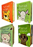 Thats Not My Touchy-Feely Collection 4 Board Books Set Kitten, Goat, Tiger, Meerkat