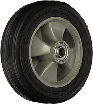 300-lb Wesco 150697 8 Diameter Poly Hub Solid Rubber Wheel Capacity 5//8 Bore 2-1//4 Hub Diameter 2 Tread Width