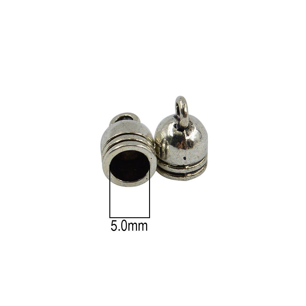Baoblaze 150pcs Fermoir Capuchon en Alliage Bouchon de Cordon Pour Cordon Fabrication de Collier Bracelet